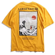 "Yellow ""Law Of Nature"" T Shirt M"