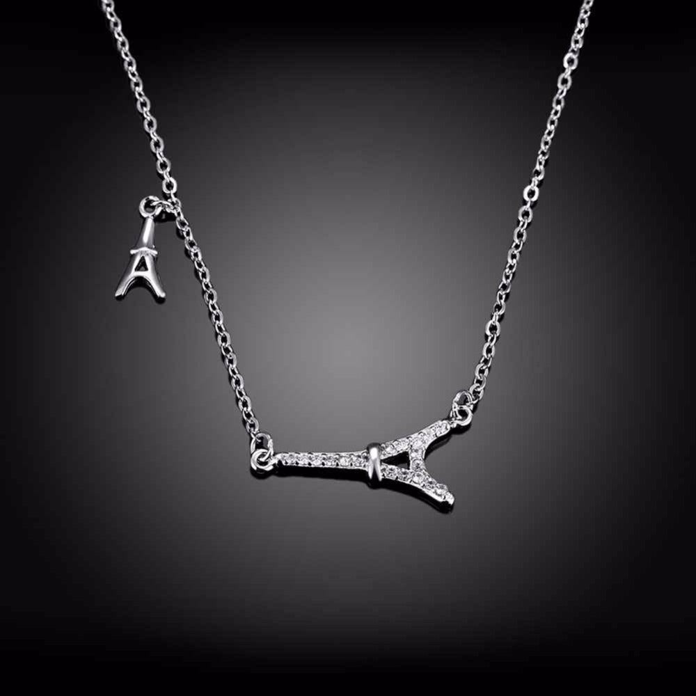 925 sterling silver eiffel tower pendant necklace coza cura 925 sterling silver eiffel tower pendant necklace mozeypictures Image collections