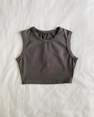 Load image into Gallery viewer, Cropped Vest - Grey