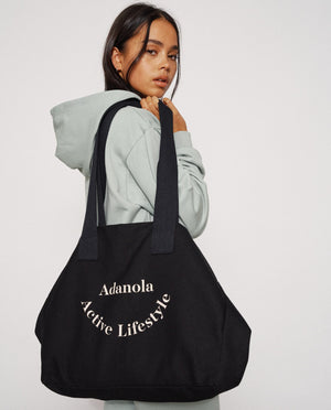Adanola Active Lifestyle Tote Bag - Black/Nude
