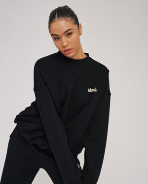 Load image into Gallery viewer, Oversized Sweatshirt - Black