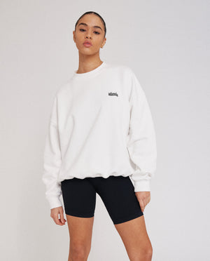 Load image into Gallery viewer, Oversized Sweatshirt - White