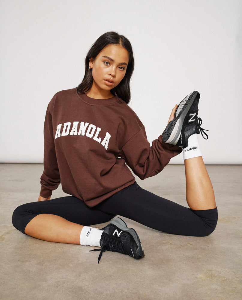 Adanola Essential Sweatshirt - Chocolate