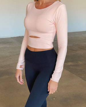 Long Sleeve Top - Peach