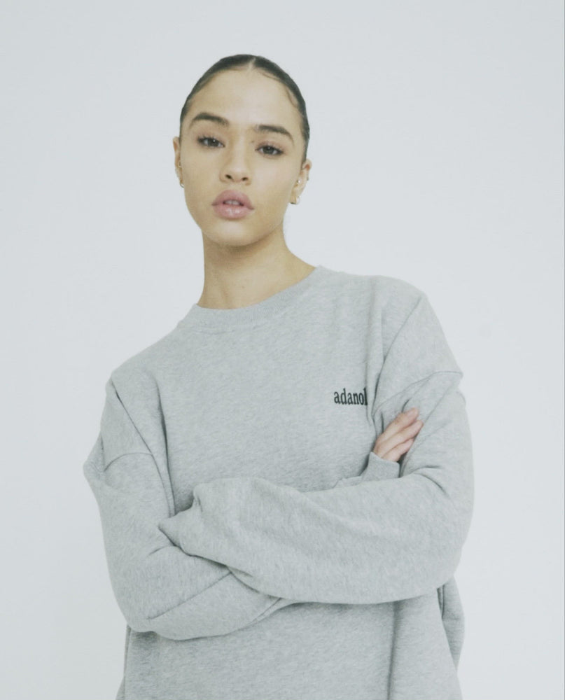 Load and play video in Gallery viewer, Oversized Sweatshirt - Heather Grey