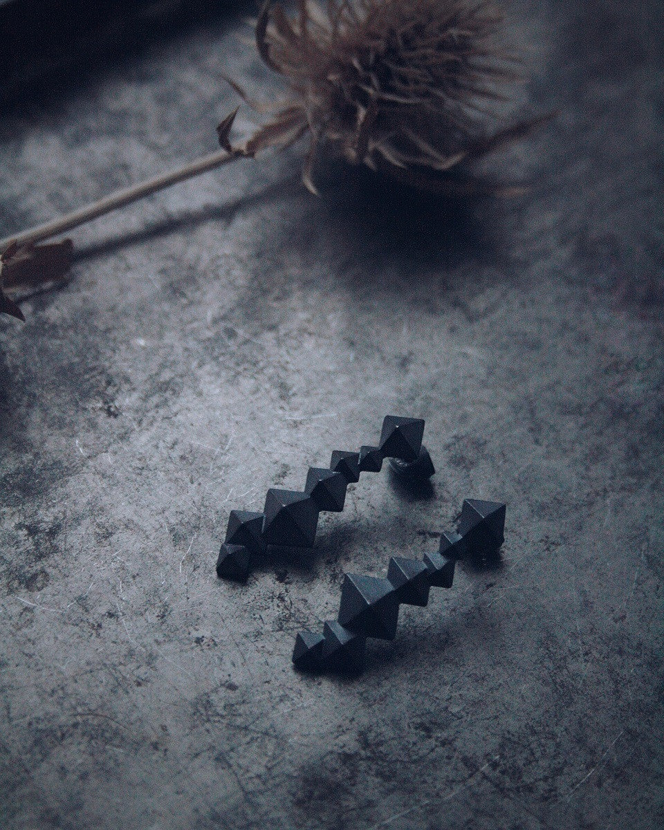 UNI earrings black