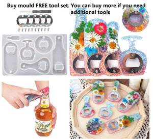 Bottle opener mould | Beer opener mould | Resin mould | 3D mould | Silicon mould | UV resin mould | Resin art