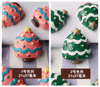 5 pcs Christmas tree cabochon | Christmas decoden | Tree cabochon | Decoden | Cookies cabochon