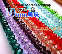 10mm Rondelle crystal beads | Rondelle beads | DIY jewelry | Sapphire crystal beads