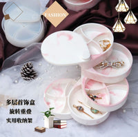 Layers rotatable jewelry box mould | 3D mould | Rotatable jewelry mould