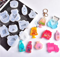 Kawaii shaker moulds | Cola shaker mould | UV resin mould | Game boy shaker mould | Teddy shaker mould