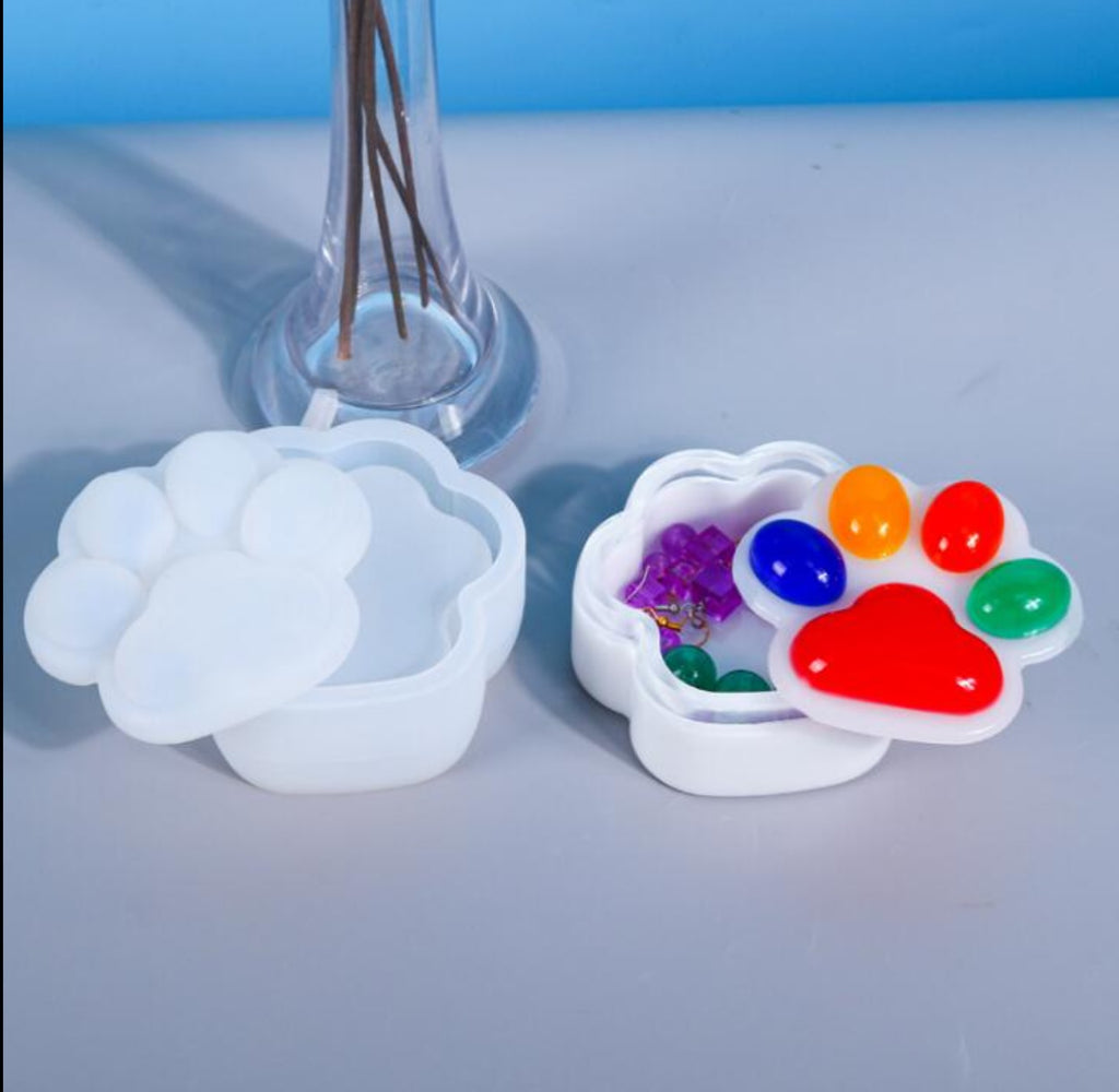 Paw container mould | Kawaii container mould | Uv resin mould | Silicon mould