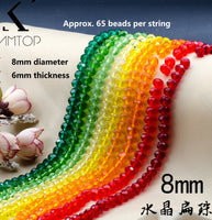 8mm rondelle crystal beads | 1 string 8mm beads | Beads weaving | Color beads | Rondelle crystal beads