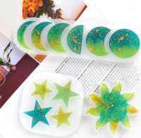Moon phases moulds | Star mould | Sun mould | 3D mould | Kawaii mould | Silicon mould