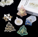 Christmas ornaments mould | Christmas bell moulds | Christmas tree mould | UV resin mould | 3D moulds