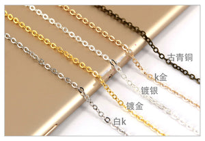 2 meters 0.35mm small cable chain | Cable chain | DIY chain | Jewelry findings
