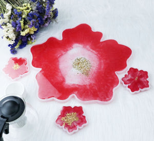 Flower coasters mould | Coasters mould | 3D mould | Silicon mould | UV resin mould | Coffee Coasters