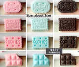 5 pcs packet cookies cabochon | Cookie Cabochon | Biscuit Cabochons | Decoden