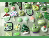 Green series Cabochons lucky bag | Decoden Cabochon | Kawaii miniature | Sweet decodens | Sweet miniatures