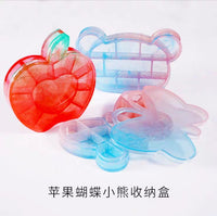 Butterfly storage mould | Silicon mould | 3D mould | Ribbon container mould | Bear mould |