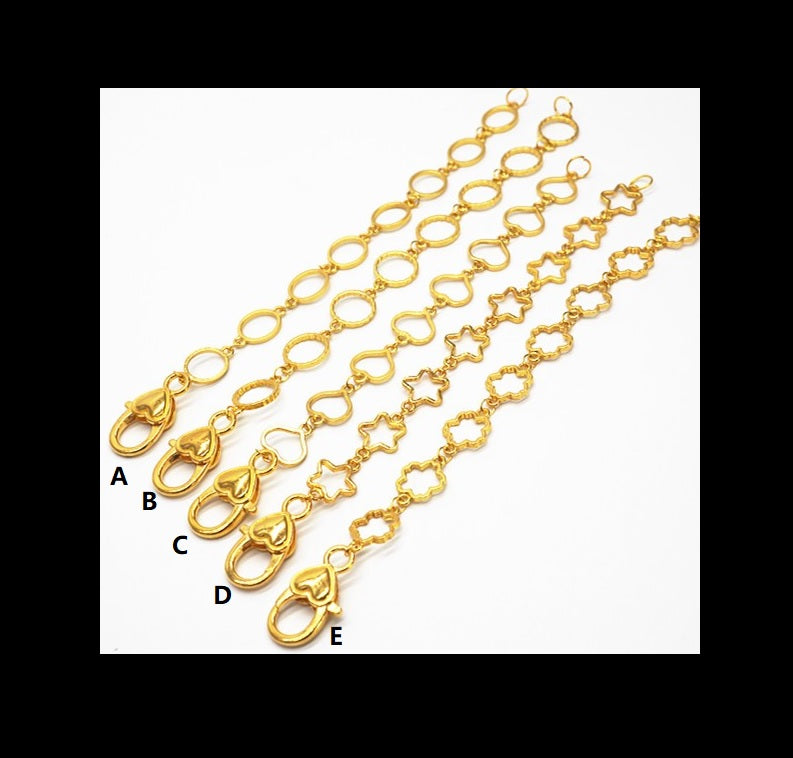 Chain | Extension chain | Gold chain | Bag chain | Key chain | Heart shape bezel