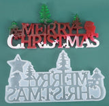 Merry Christmas mould | Christmas mould | Resin mould | Silicon mould | 3D mould