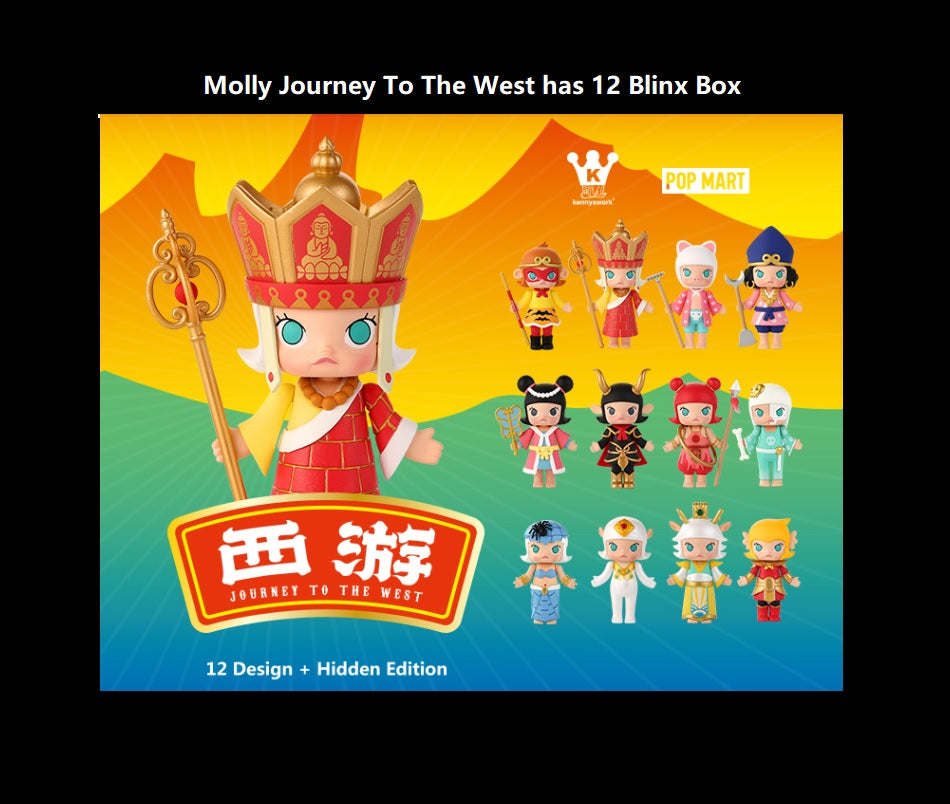 Molly Journey To The West Blind Box | Mystery box | Mystery bag | Secret Chase Figure