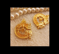 Alice in the wonderland charm | Clock charm | White rabbit charm | Gold charm