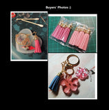 5 pcs packet 38mm Korean velvet tassels | Tassels | Velvet tassels | Tassel key ring