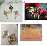 Open bezel key charm| Heart Open bezel | Key charm | Gold wand charm | Resin charm