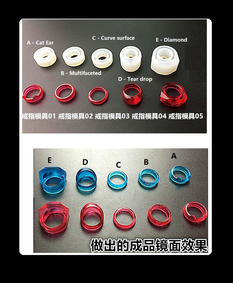 Cat ring mould | Diamond ring mould | Silicon mould | Resin ring mold | Silicon ring mold