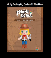 Molly Finding Big Ear Blind Box | Mystery box | Secret Chase Figure | Mystery minis | Miniatures