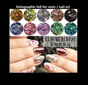 Holographic foil | Holo glitter | | Holo flakes | Glitter | Color foil | Resin glitter | Nail art