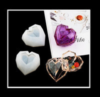 Heart trinket box mould | Trinket box | Hear shape mould | Silicon mould | resin mould | UV resin mould