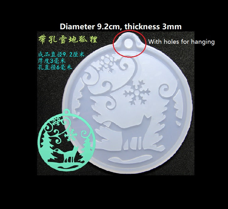 Fox in the snow mould | Silicon mold | Christmas ornaments