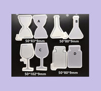 Shaker mould | Hour glass shaker mould | Perfume bottle mould | Resin mould