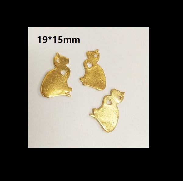 Kitty inclusion | Gold accent | Embellishment | Resin inclusion | Cat embellishment | Resin embellishment