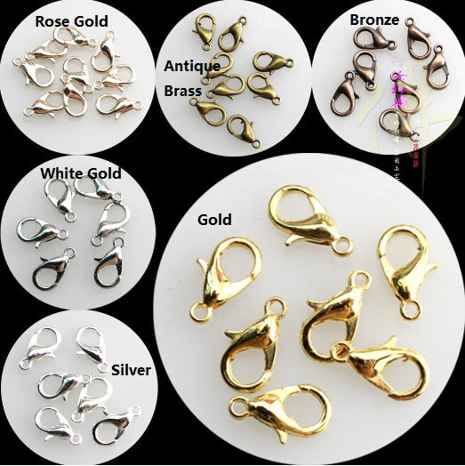 100 pcs lobster clasps | Gold lobster clasp | Necklace connector | Jewelry finding | Swivel lobster clasps | Bracelet connector
