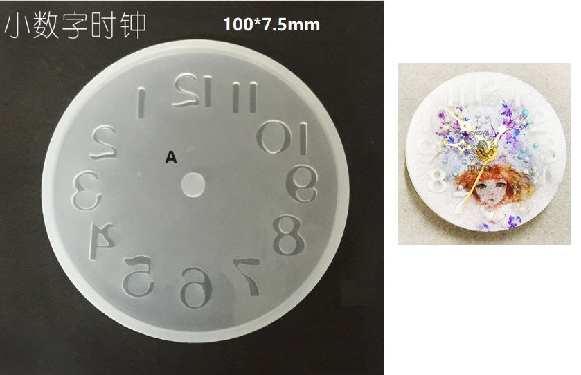 Clock resin mold | Wall clock mold | Resin mold | Resin clock mold