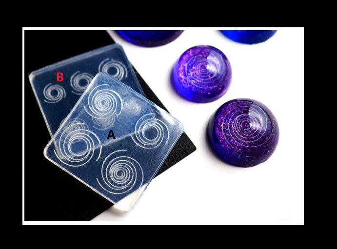 Galaxy Swirl mould | Resin mould | UV resin mould | Silicon mould | Galaxy mould
