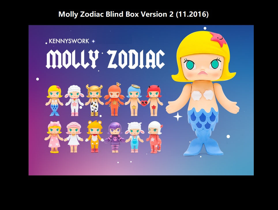 Molly Zodiac Version 2 Blind Box | Blind Box | Mystery box | Mystery mini | Grab bag | Miniatures | Secret Chase