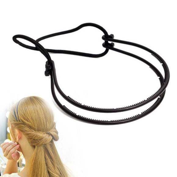 PLASTIC LOOP STYLING TOOLS BLACK TOPSY PONY TOPSY TAIL CLIP HAIR BRAID MAKER