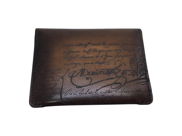 Vision Engraved Venezia Calf Leather Card Holder