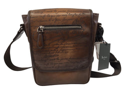 Berluti Jour J Engraved Calf Leather Messenger Bag - Luxuria & Co.