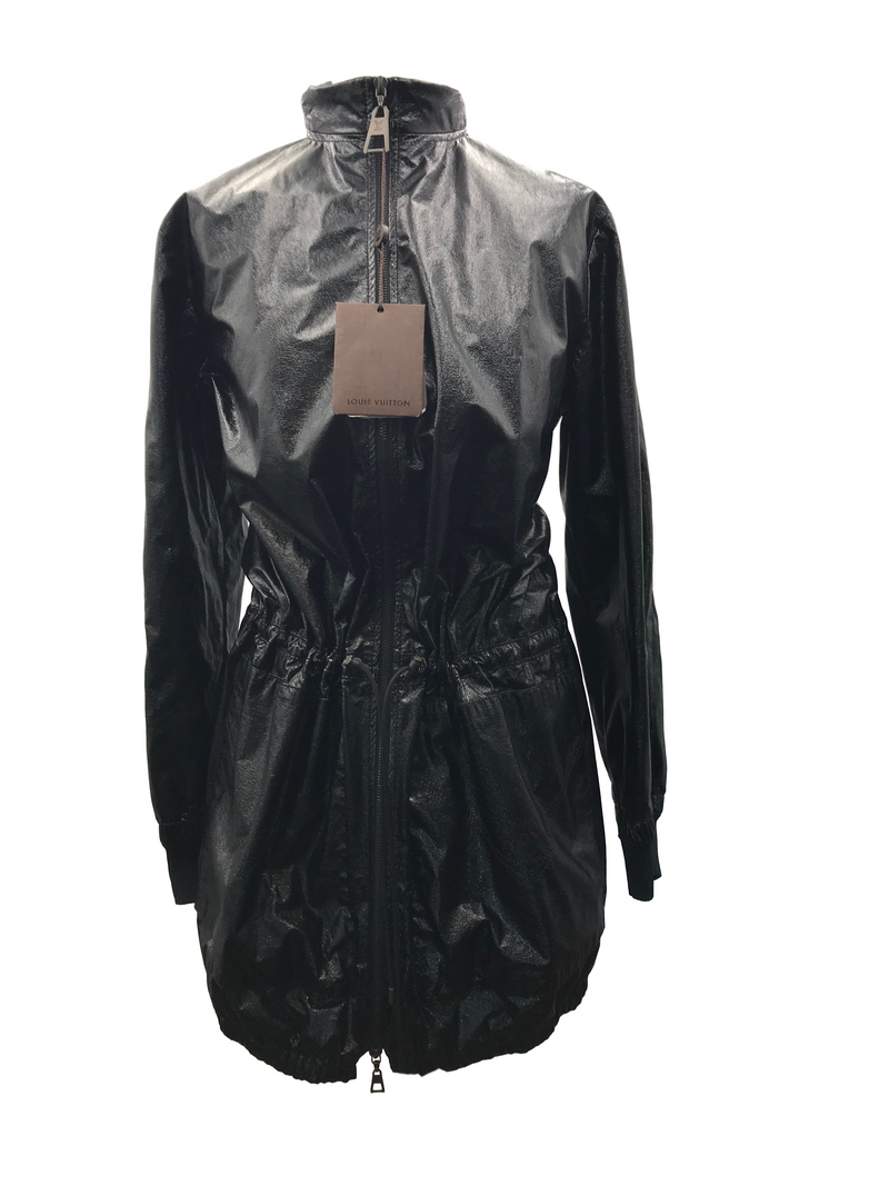 Louis Vuitton Faux Leather Parka - Luxuria & Co.
