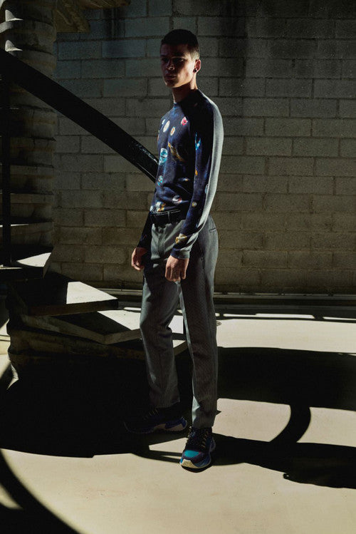 Garment Front Printed Planets Crewneck - PRE-ORDER
