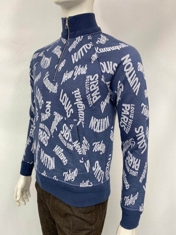 Jacquard Cities Half Zip Sweater
