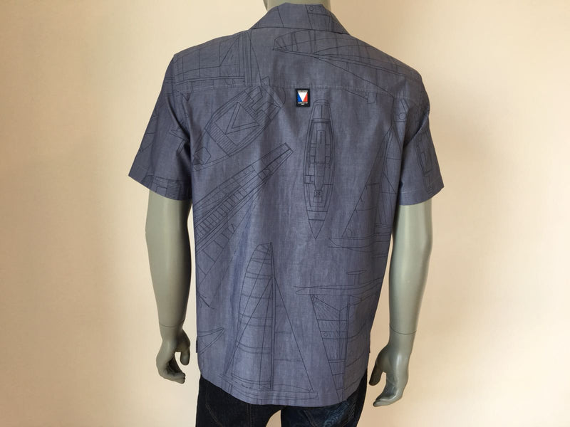 Louis Vuitton America's Cup Yacht Print Shirt - Luxuria & Co.