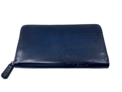 Berluti Itauba Scritto Leather Long Zipped Wallet - Luxuria & Co.