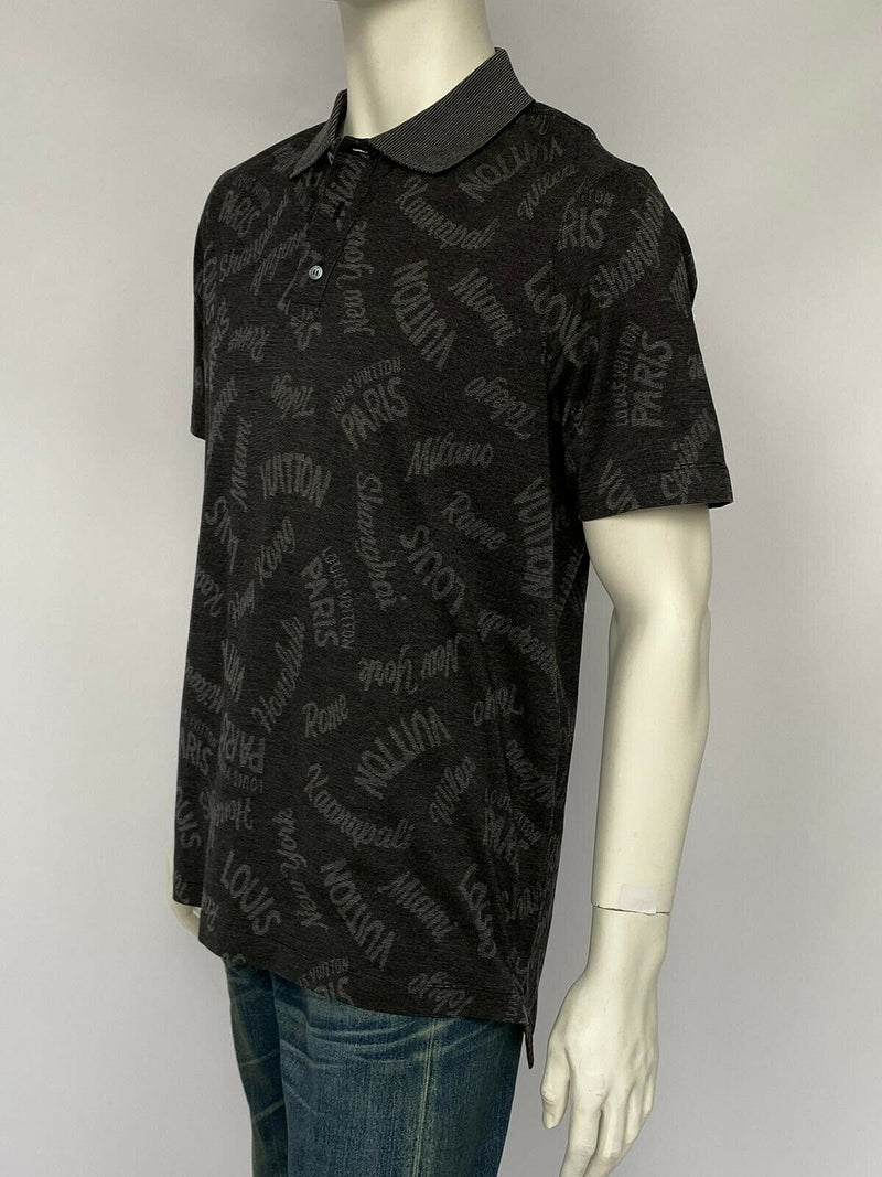 Louis Vuitton Oxford Cities Jacquard Polo - Luxuria & Co.